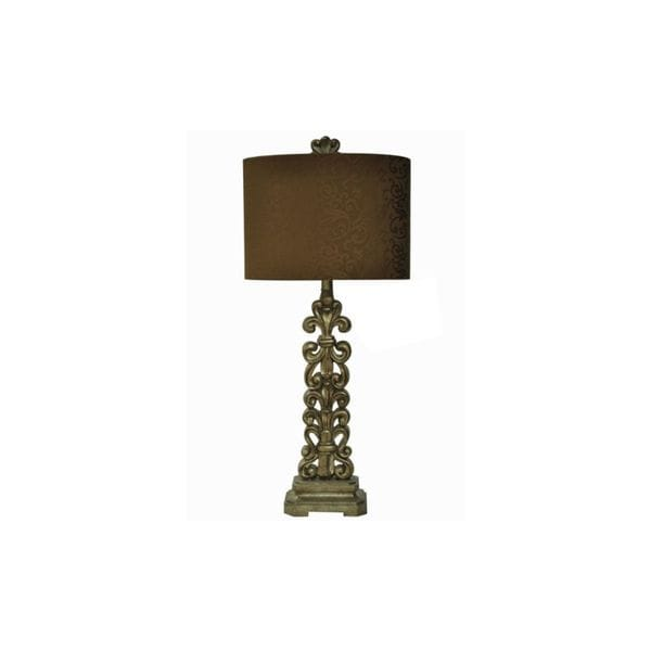 Crestview Collection 31.5-inch Almond Silver Table Lamp