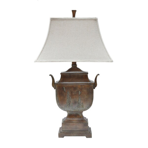 Seville Urn Rustic Wood 34-inch Table Lamp