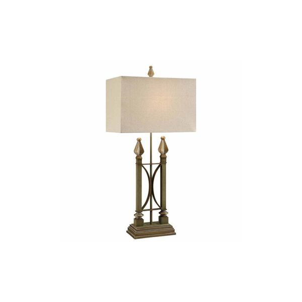 Crestview Collection 37-inch Green and Gold Table Lamp