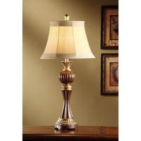 Bailey Merlot and Antique Silver 34-inch Table Lamp