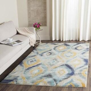 Safavieh Monaco Vintage Watercolor Blue/ Multicolored Distressed Rug (8' x 11')