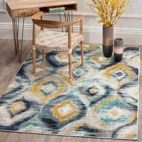 Safavieh Monaco Vintage Watercolor Blue/ Multicolored Distressed Rug (9' x 12')