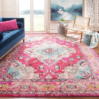 Safavieh Monaco Bohemian Medallion Pink/ Multicolored Distressed Rug - 8' x 11'