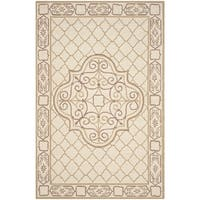 Safavieh Hand-hooked Easy to Care Ivory/ Gold Rug - 9' x 12'