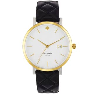Kate Spade Women's 1YRU0125 White Dial Black Leather Strap Watch|https://ak1.ostkcdn.com/images/products/11740022/P18657526.jpg?impolicy=medium