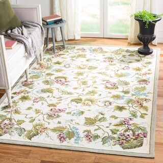 Safavieh Hand-hooked Easy to Care White/ Multi Rug (9' x 12')