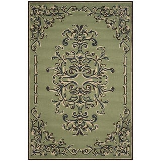 Safavieh Hand-hooked Easy to Care Sage/ Multi Rug (9' x 12')