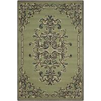 Safavieh Hand-hooked Easy to Care Sage/ Multi Rug - 9' x 12'