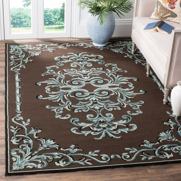 Safavieh Hand-hooked Easy to Care Chocolate/ Multi Rug - 9' x 12'