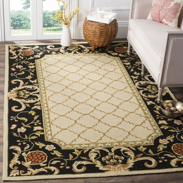 Safavieh Hand-hooked Easy to Care Ivory/ Black Rug - 8' x 10'