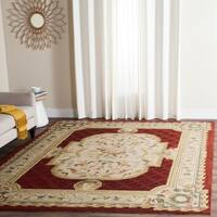 Safavieh Hand-hooked Easy to Care Ivory/ Red Rug - 9' x 12'