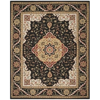 Safavieh Hand-hooked Easy to Care Black/ Cream Rug (9' x 12')