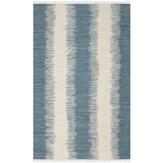 Safavieh Hand-Woven Montauk Blue Cotton Rug (10' x 14')