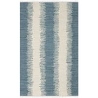 Safavieh Hand-Woven Montauk Blue Cotton Tassel Area Rug - 10' X 14'