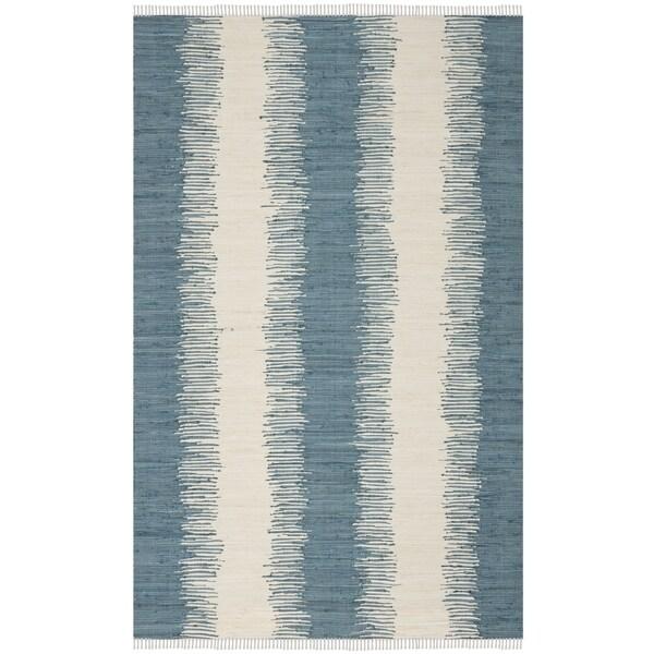 Safavieh Hand-Woven Montauk Blue Cotton Rug - 10' x 14'