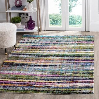 Safavieh Fiesta Shag Abstract Watercolor Multicolored Rug (9' x 12')