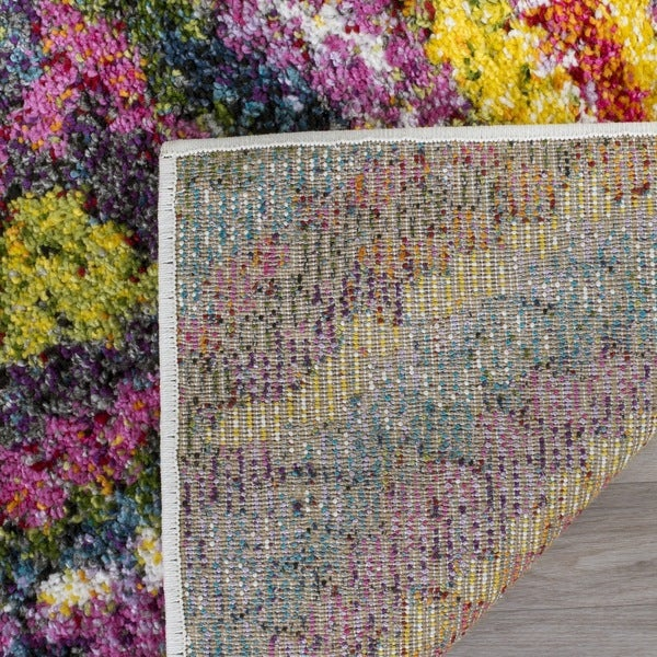 Safavieh Fiesta Shag Abstract Floral Multicolored Rug - 8' x 10'