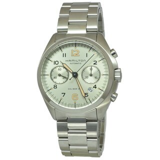 Hamilton Men's H76416155 Pilot Pioneer Auto Chrono Silver Watch