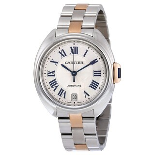 Cartier Women's W2CL0003 Cle de Cartier Silver Watch|https://ak1.ostkcdn.com/images/products/11740111/P18657630.jpg?_ostk_perf_=percv&impolicy=medium