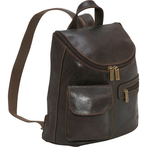 8625b7503 LeDonne Leather Women's Distressed Leather Fashion Backpack