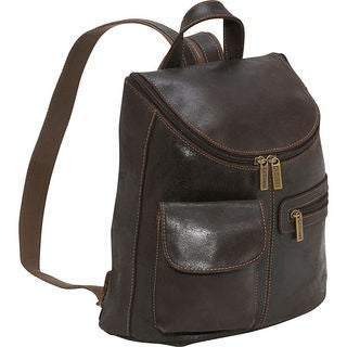 LeDonne Leather Women's Distressed Leather Fashion Backpack