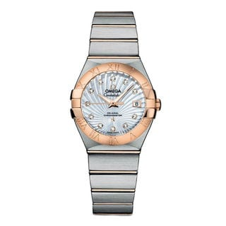 Omega Women's 12320272055001 Constellation White mother of pearl Watch