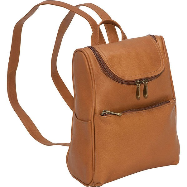 LeDonne Womens Leather Convertible Backpack and Shoulder Bag with