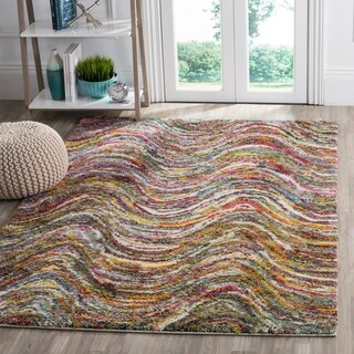 Safavieh Fiesta Shag Modern Abstract Multicolored Rug (9' x 12')