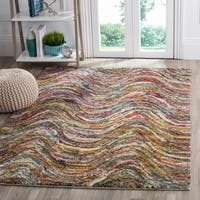 Safavieh Fiesta Shag Multicolored Waves Rug - multi - 9' x 12'
