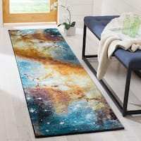 Safavieh Galaxy Watercolor Vintage Purple/ Multi Rug - 8' X 10'