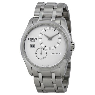 Tissot Men's Stainless Steel T0354281103100 Couturier White Dial Automatic Watch