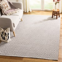 Safavieh Hand-Woven Montauk Grey/ Ivory Cotton Rug - 10' x 14'