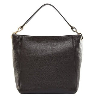 Michael Kors Fulton Medium Black Leather Shoulder Handbag