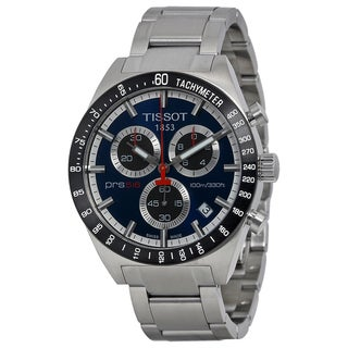 Tissot Men's Stainless Steel T0444172104100 PRS516 Blue Chronograph Dial Watch