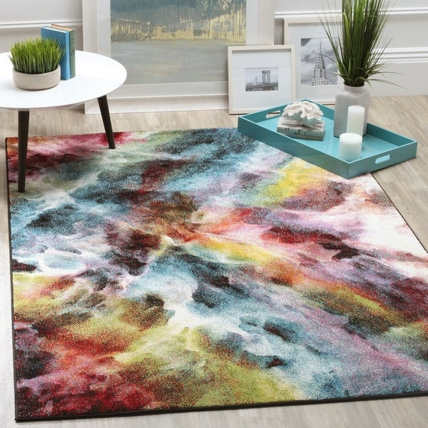 Safavieh Galaxy Watercolor Vintage Multi Rug - 8' X 10'
