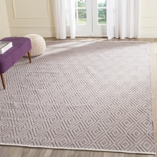 Safavieh Hand-Woven Montauk Grey/ Ivory Cotton Rug (9' x 12')