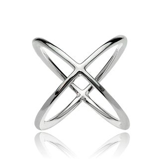 Link to Mondevio Sterling Silver Polished Criss-Cross X Ring Similar Items in Fashion Jewelry Store