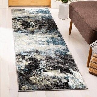 Safavieh Glacier Contemporary Abstract Blue/ Multi Area Rug (8' x 10')