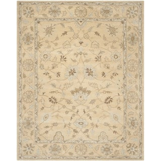 Safavieh Handmade Wyndham Light Gold/ Light Gold Wool Rug (8' 9 x 12')