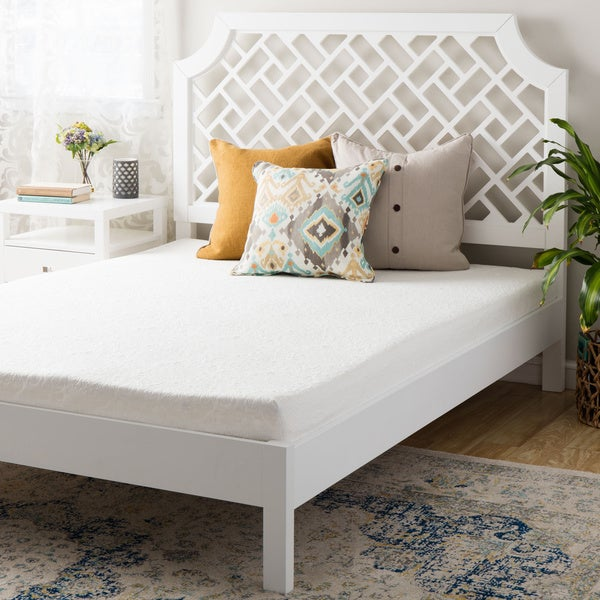 6 inch short queen size memory foam mattress white free shipping today overstock 18657804. Black Bedroom Furniture Sets. Home Design Ideas