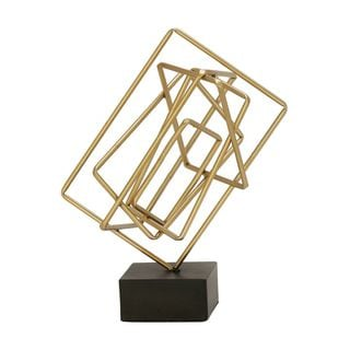 Charming Metal Sculpture Gold