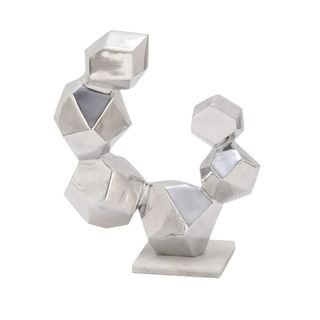 Excellent Aluminum Sculpture With Marble Base