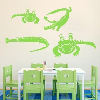 Set of Crocodiles Wall Decals