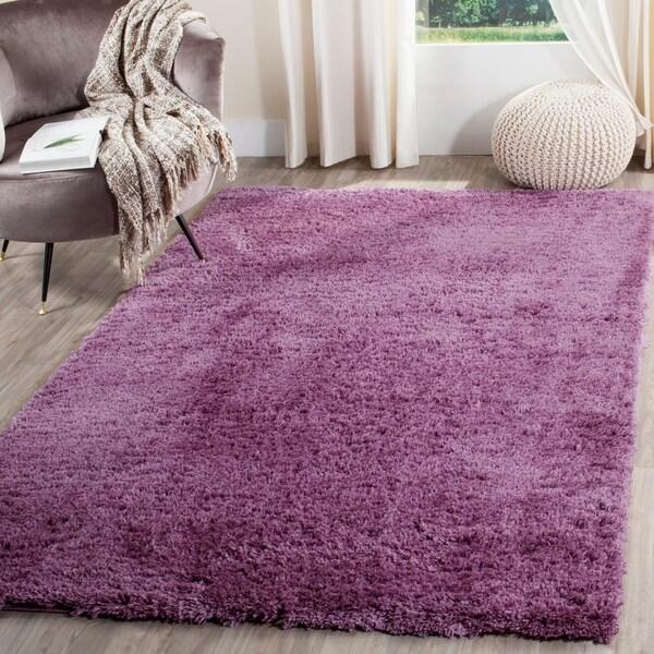 Safavieh Indie Shag Purple Polyester Rug - 8' x 10'