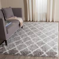 Safavieh Indie Shag Trellis Grey/ Ivory Polyester Rug - 8' x 10'