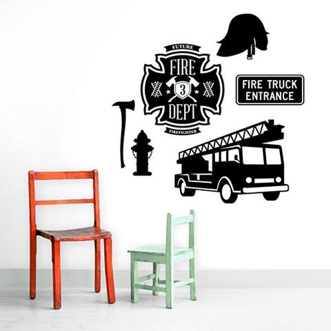 Firefighter Set Wall Decals