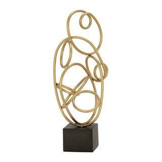 Innovative Metal Gold Sculpture