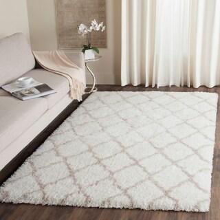 Safavieh Indie Shag Ivory/ Mushroom Polyester Rug (8' x 10')