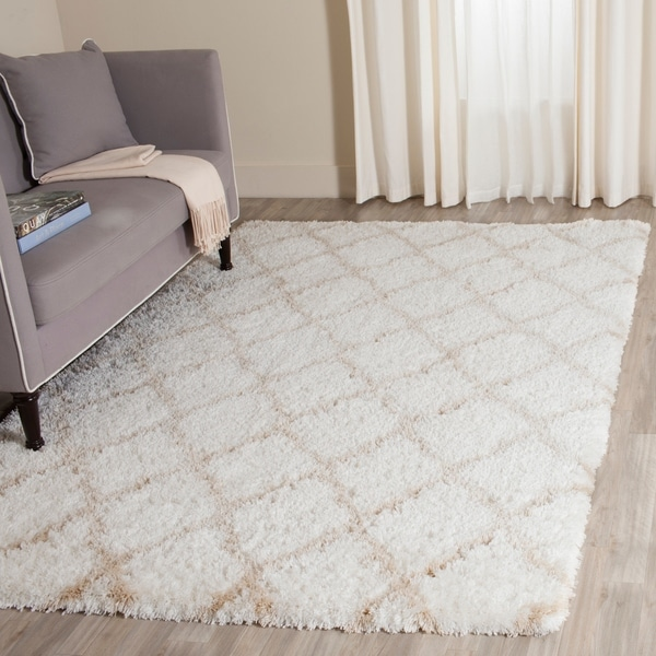 Shop Safavieh Indie Shag Trellis Ivory Light Beige