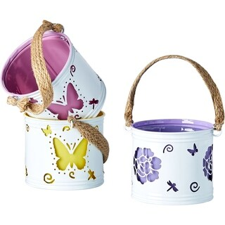 Spring Luminary Painted Small Pot Covers (Set of 3)